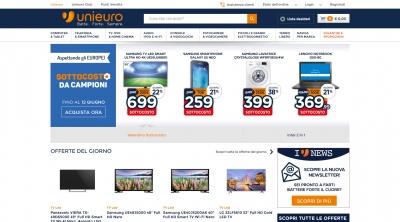 Apri la recensione del sito web: http://www.unieuro.it
