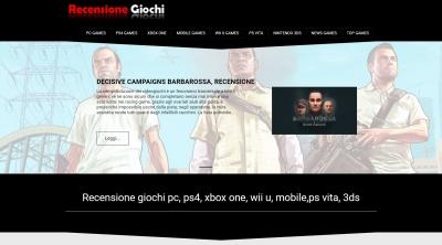 Apri la recensione del sito web: http://www.recensionegiochi.com