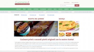 Apri la recensione del sito web: http://www.cucinare.it